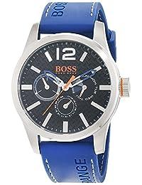 Hugo Boss Orange 1513250 Stainless Steel Case Blue Rubber Mineral Men's Watch