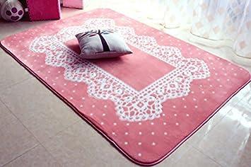 Tappeto Da Salotto Rosa : Pizzo antiscivolo marrone tappeti spessi pastorale moderno salotto