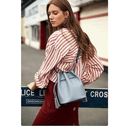 Dimensioni colore A Ladies 5 Simple Blu New 5cm 19 Tracolla Bag 24 Capacity 2018 Retro Messenger Borsa Blu 13 Shoulder PqOdP