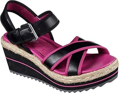 Amazon Com Skechers Women S Heart Breaker Ankle Strap