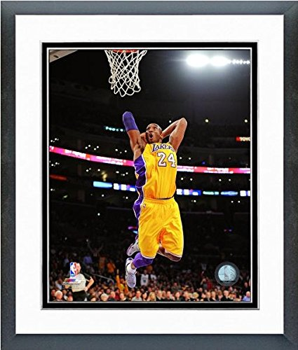 Los Angeles Lakers Framed - Kobe Bryant Los Angeles Lakers NBA Action Photo (Size: 12.5