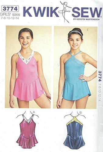 Kwik Sew 3774 Girls' and Teen Leotards Sewing Pattern supplier:sailorsparadise by instrainclug