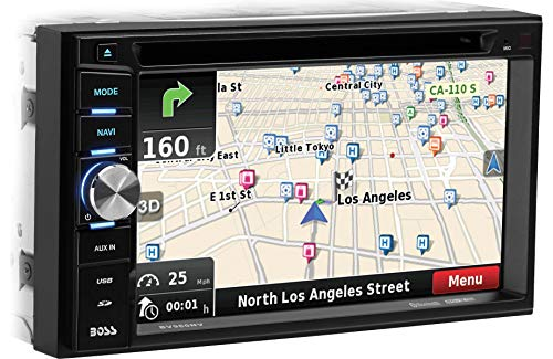BOSS Audio Systems Elite BV960NV Car GPS Navigation and DVD Player - Double Din, Bluetooth Audio and Calling, 6.2 Inch LCD Touchscreen Monitor, MP3 CD DVD USB SD, Aux-in, AM FM Radio Receiver