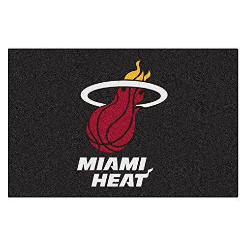 FANMATS NBA Miami Heat Nylon Face Starter Rug - Miami Heat Floor