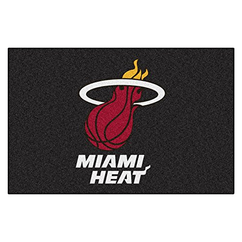 (FANMATS NBA Miami Heat Nylon Face Starter Rug)