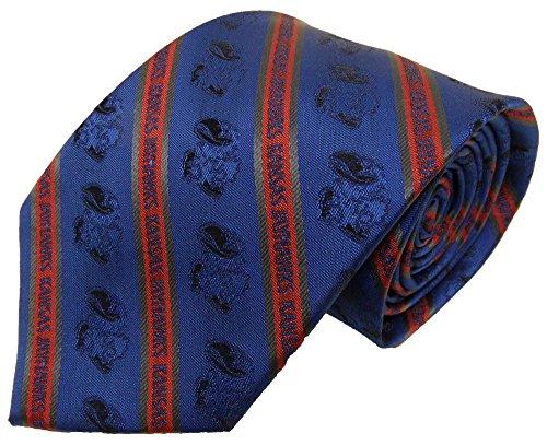 NCAA Kansas Jayhawks Tone on Tone Prep Necktie, Blue, One Size