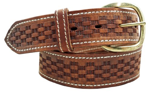 Men's Basketweave Embossed Work Belt 1 1/2