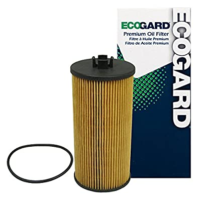 ECOGARD X5526 Premium Cartridge Engine Oil Filter for Conventional Oil Fits Ford F-250 Super Duty 6.0L DIESEL 2003-2007, F-350 Super Duty 6.0L DIESEL 2003-2007, F-250 Super Duty 6.4L DIESEL 2008-2010: Automotive