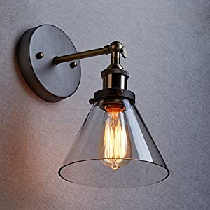YOBO Lighting Industrial Edison Vintage Glass Ceiling Wall Sconce Lighting