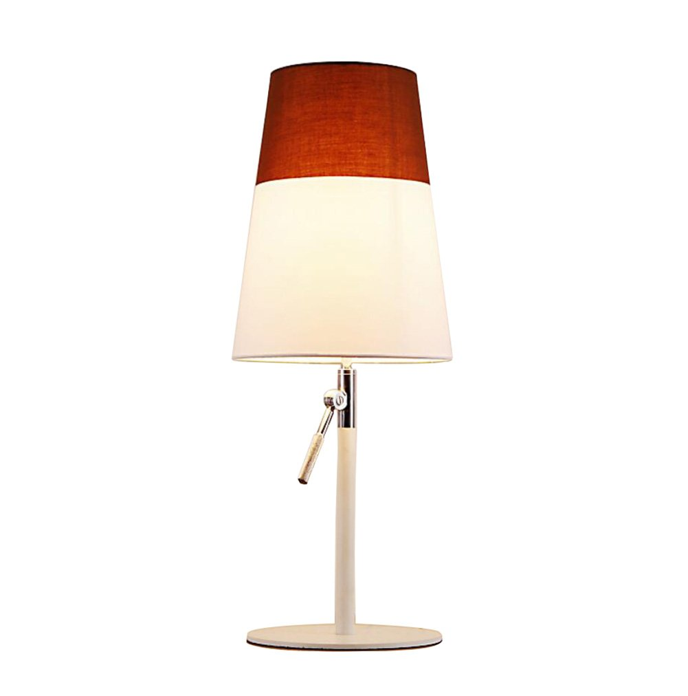 GL&G Modern Adjustable High Protection Eye Lamp Bedroom Study Reading Lighting Creative Fashion Bedside Lamp (Push Button Switch),Coffee,2360CM