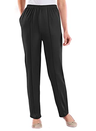 Knit Pull-On Pants at Amazon Women's Clothing store: