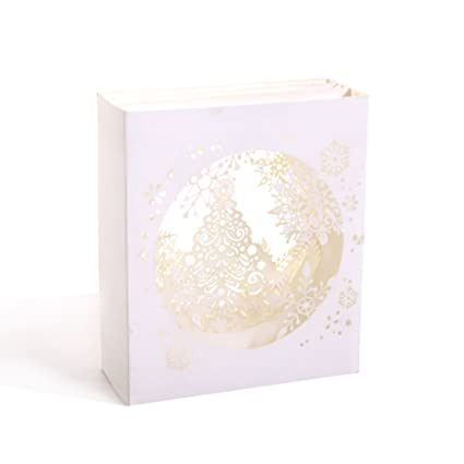 paper spiritz snowflake tree pop up christmas card 3d holiday happy new year card