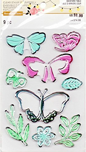 - Recollections Unmounted Clear Stamps, Layered Butterfly