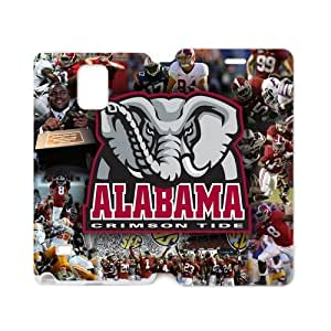 Generic Custom Extraordinary Best Design NCAA Alabama Crimson Tide Team Logo pc Case and High Grade PU Leather Case Cover for SamsungGalaxy Note4