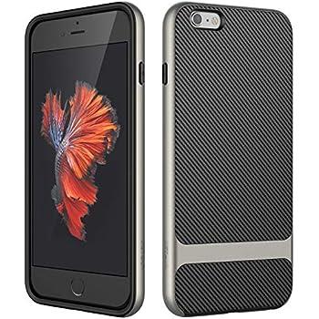 38e19d62b89 JETech Funda para iPhone 6s Plus iPhone 6 Plus, Carcasa con Shock-  Absorción, Fibra de Carbono, Gris