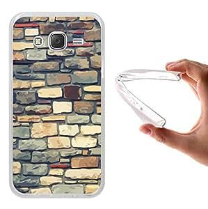 Funda Samsung Galaxy J5 2015, WoowCase [ Samsung Galaxy J5 2015 ] Funda Silicona Gel Flexible Ladrillos Multicolor, Carcasa Case TPU Silicona - Transparente