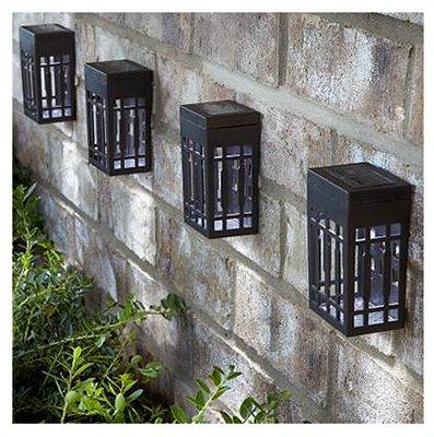FOREVER GIFTS SS0070-PPW0 FS Sol Wall Light, 4-Pack