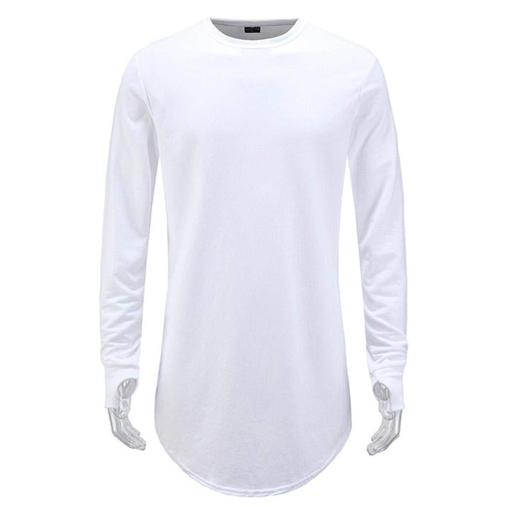 Resplend Blusa Superior de Manga Larga de O-Cuello de la Camiseta Ocasional del Hip Hop de la Moda de otoño de los Hombres: Amazon.es: Ropa y accesorios