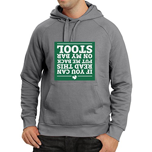 Hoodie St Patty's Day Parade Quotes, St Patrick's Day Irish Shamrock (Small Graphite Multi Color) -