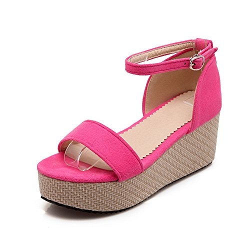 Adee Ladies Open-Toe Rain Frosted Sandals RoseRed w7Enda