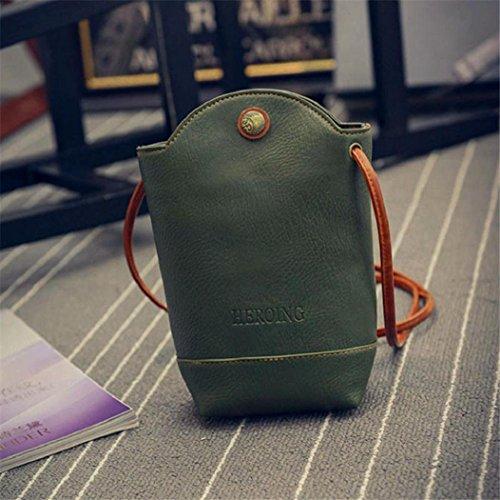 Bag Buckle Green Bags Bags Messenger Handbag Crossbody Bag Flap PU Leather Shoulder EUzeo Small Body Vintage Slim Women With THqZU