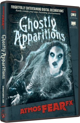 AtmosFX Ghostly Apparitions Digital Decorations DVD for Halloween Holiday Projection Decorating -