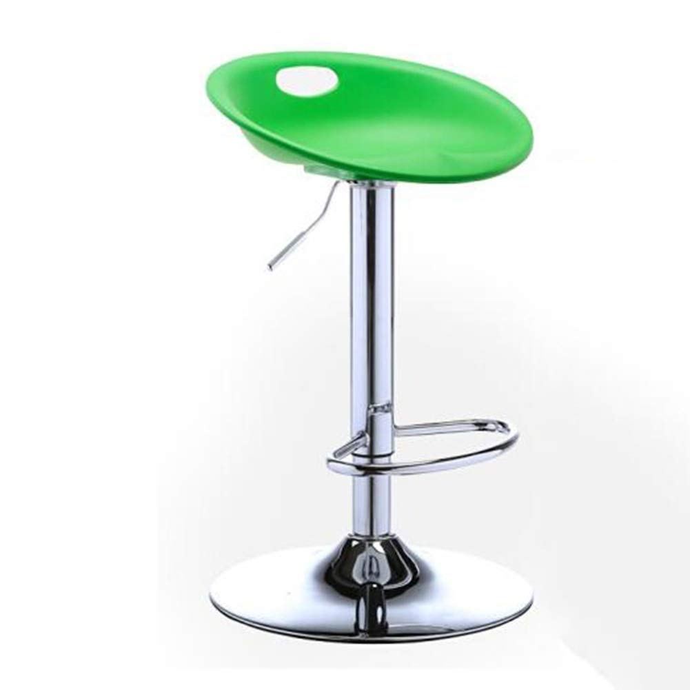 GREEN H 80CM XUERUI Barstools High Chair Bar Chair, Bar Stools, Reception Chair, PP, Metal, Simple Modern Adjustable Height redatable - Multi-color Optional Strong Stability (color   Green, Size   H 80CM)
