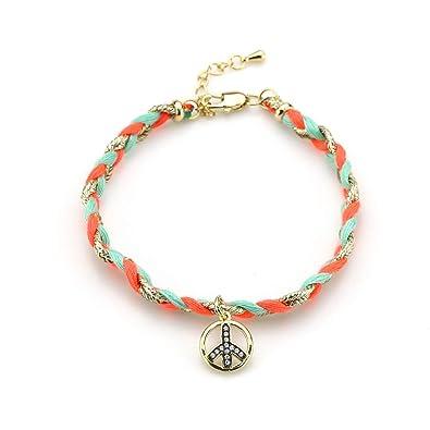 657fe3aacb9d2 Amazon.com: cundo Women Handmade Bohemia Wrap Braided Bracelet ...