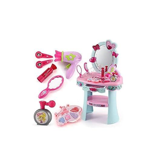 DWLXSH Dresser Conjunto de Belleza - Pink Princess Juego de Mesa ...