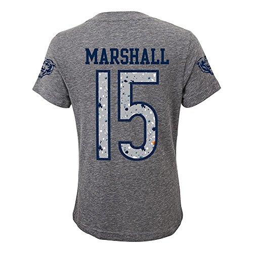 Brandon Marshall Youth Jersey - Outerstuff Brandon Marshall NFL Chicago Bears Splatter N&N Grey Jersey T-Shirt Youth Girls