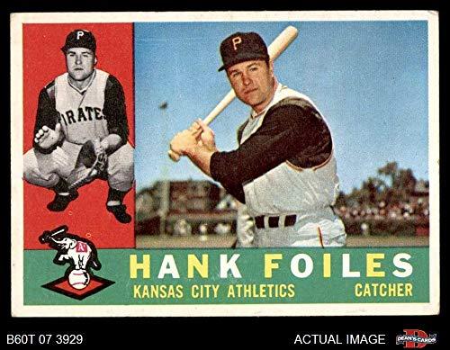 (1960 Topps # 77 Hank Foiles Kansas City Athletics (Baseball Card) Dean's Cards 3 - VG Athletics)