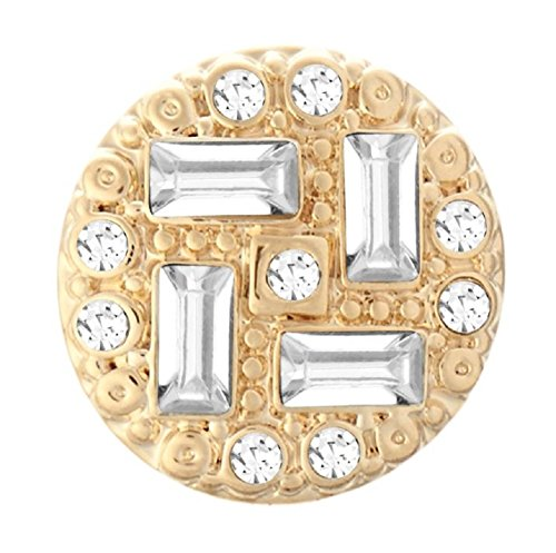 (Ginger Snaps PETITE (Simulated) Gold Mystify Clear Snap GP07-45 (Petite Size) Interchangeable Jewelry Snap)