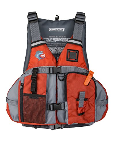 MTI Solaris F-Spec Fishing Life Jacket - Orange/Gray - MD/LG (36-46