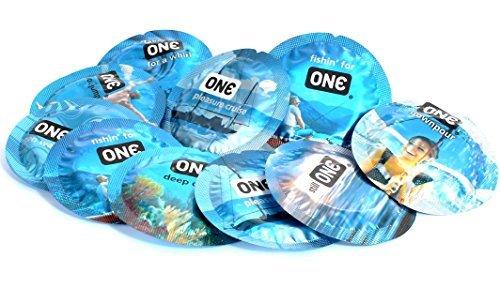 ONE Pleasure Plus The New Shap of Pleasure for Maximum Pleasure Lubricated Latex Condoms Bulk - 12 Latex Condoms
