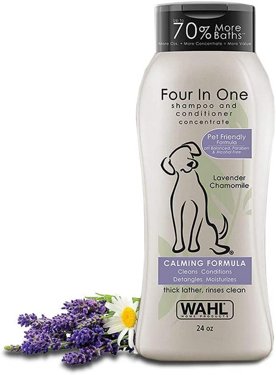 Wahl 4-In-1 Calming Formula Pet Shampoo - Ultimate Choice Dog Shampoo for Pitbulls and Bulldogs
