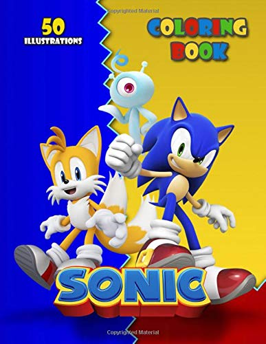 Sonic: Jumbo Coloring Book For Kids For Boys & Girls For Toddlers - 50 Illustrations