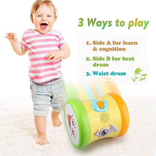 deaunbr Musical Learning Toys for Toddlers 1-3, Music Baby Drum, Early Educational Instruments Toy & Gift for 1 2 3 Years Old Babies, 10 Months and up Infant, Toddler, Girls, Boys, Kids, Gifts