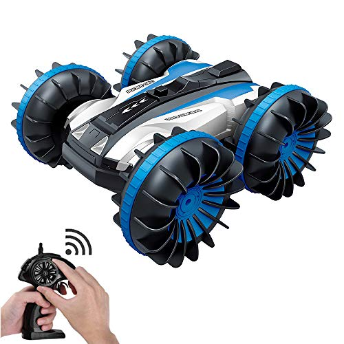 Guluman Stunt Remote Control Car Rc Boats 360°Spins/Double Sided/Amphibious 4x4 Off Road Rc Trucks Waterproof Vehicles for Kids