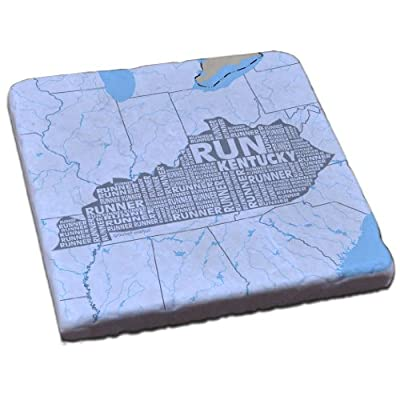 Gone For a Run Stone Coaster Kentucky State Runner