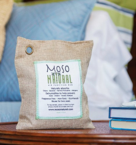 Moso Natural 200g and 500g Air Purifying Bag Deodorizers. Odor Eliminator for Cars, Closets, Bathrooms and Pet Areas. Absorbs and Eliminates Odors Natural Color by Moso Natural (Image #2)