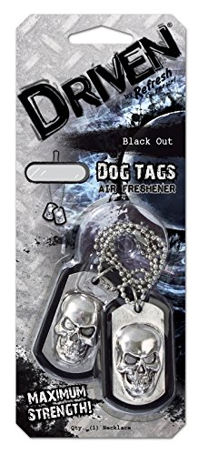 Refresh Your Car Driven E301342500 Scented Dog Tag, Black Out