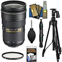 Nikon 24-70mm f/2.8G AF-S ED Zoom-Nikkor Lens with Filter + Pistol Grip Tripod + Kit for D3200, D3300, D5300, D5500, D7100, D7200, D750, D810 Cameras