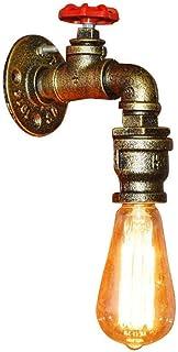 ZXT Water pipe lampada da parete in ferro battuto ristorante bar caffetteria negozio di abbigliamento corridoio balcone retro decorazione della parete lampada E27 base della lampada
