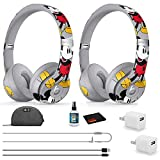Beats by Dr. Dre Solo3 Wireless Headphones (2 Pack) - Mickey's 90th Anniversary Edition - with Headphone Cleaner + More