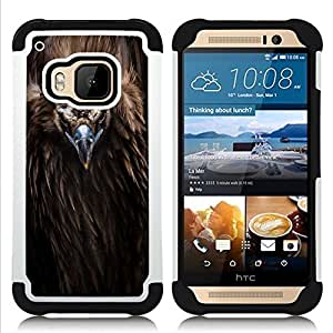 For HTC ONE M9 - bird beak feathers nature animal condor Dual Layer caso de Shell HUELGA Impacto pata de cabra con im????genes gr????ficas Steam - Funny Shop -