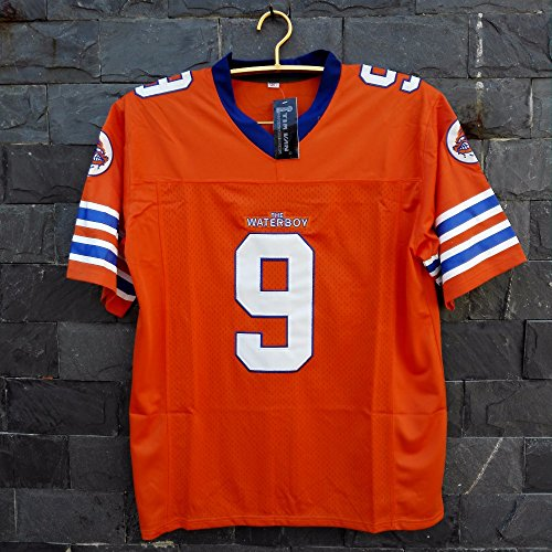 Bobby Boucher Waterboy Football Jersey Movie TV Show Adam Sandler The  Waterboy Mud Dogs Football Jersey Orange