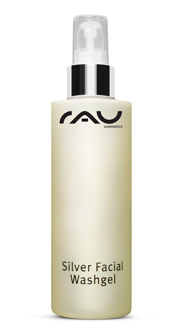 RAU Silver Facial Washgel 200 ml - Waschgel für das Gesicht mit hochporösem Silber, ideal bei unreiner Haut, Akne und Neurodermits. RAU Cosmetics 132110275