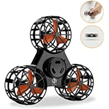 UK BONITOYS BoniToys Handheld Flying Fidget Spinner,Anti-Anxiety ADHD Relieving Reducer Outdoor Interactive Toys for Kids Adult, Black