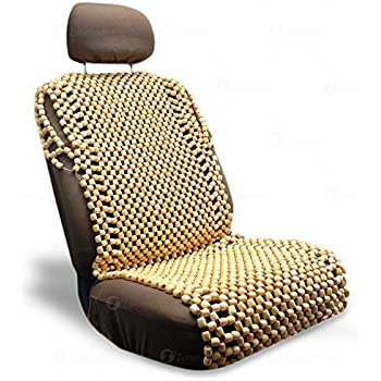 Amazon.com: Zone Tech Natural Royal Wood Bead Seat Cover Massage ...