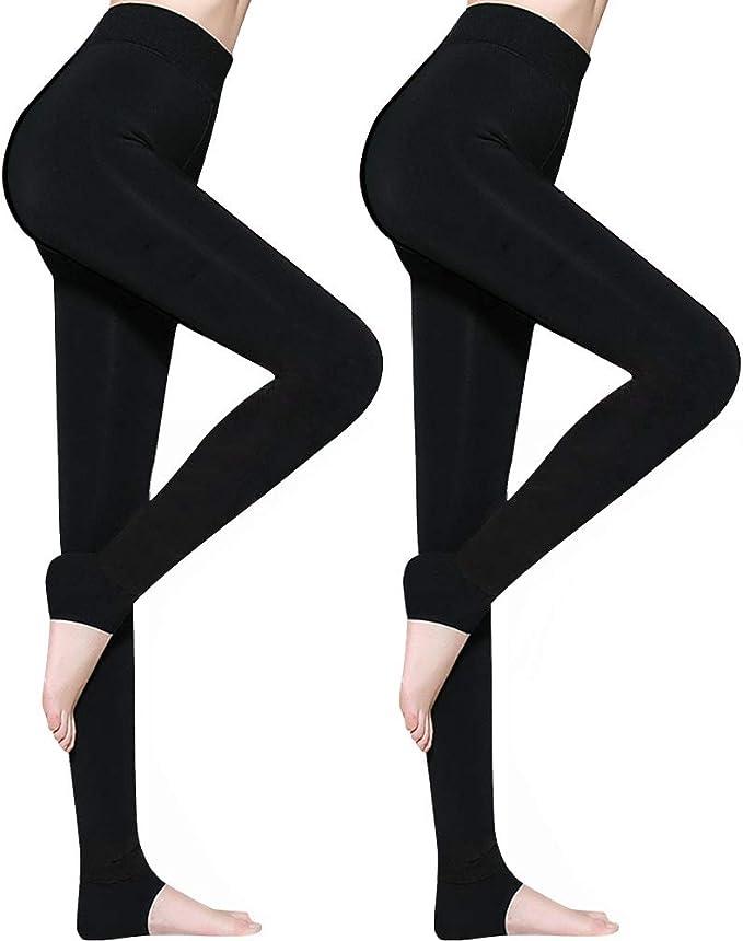 AimTop 2 Pack Leggins Termicos Mujer, Leggins Mujer Invierno Terciopelo Elástico Leggings Mujer Invierno, Mallas Termicas Mujer Pantalon Termico, Leggings Negros: Amazon.es: Ropa y accesorios